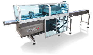 SleekWrapper inverted flow wrapping machine image