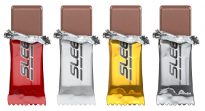 Example chocolate bars flow wrapped