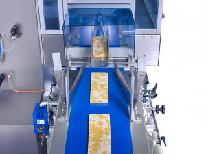 SleekWrapper flow wrapping blocks of cheese