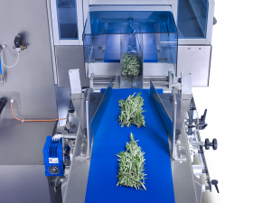 sleek wrapping herbs for packaging with wrapping machine