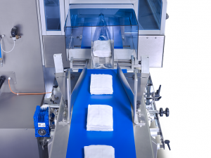 sleek inverted flow wrapping machine