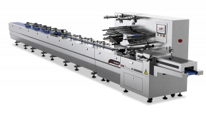 Sleek HSA high speed flow wrapping machine with product alignment