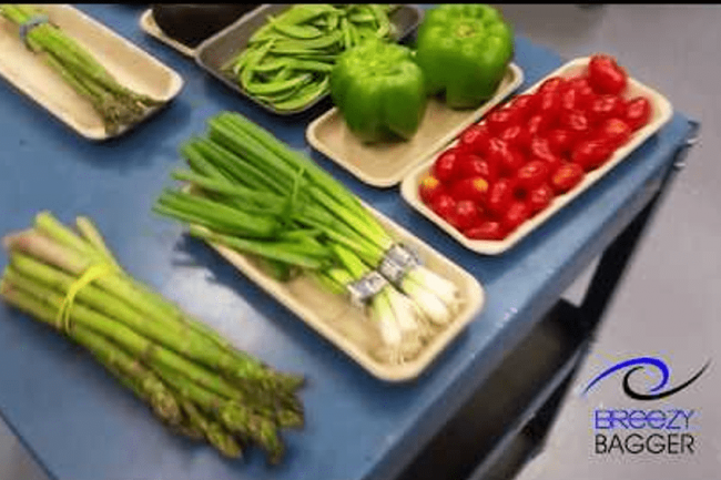 Packaging Produce Trays - Breezy Bagger