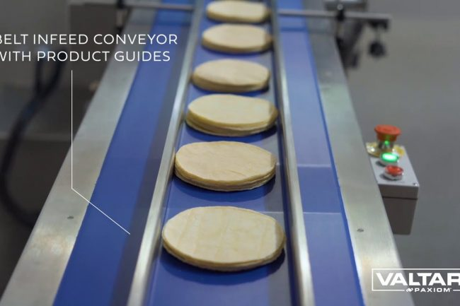 How to flow wrap tortillas or pizza crusts with SleekWrapper i65